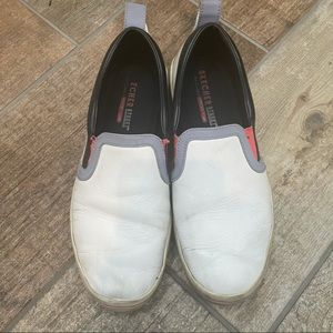 Skechers Leather Slip On Shoes 8